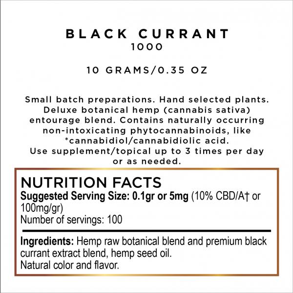 Edible Black Currant Hemp CBD Paste 1000